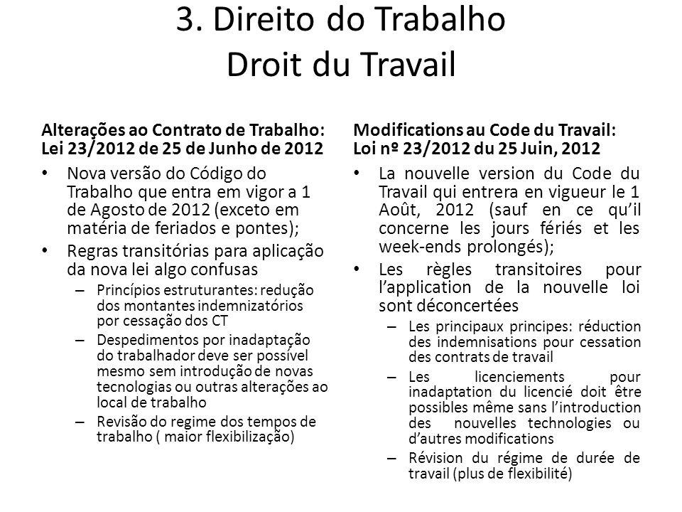 3. Direito do Trabalho Droit du Travail