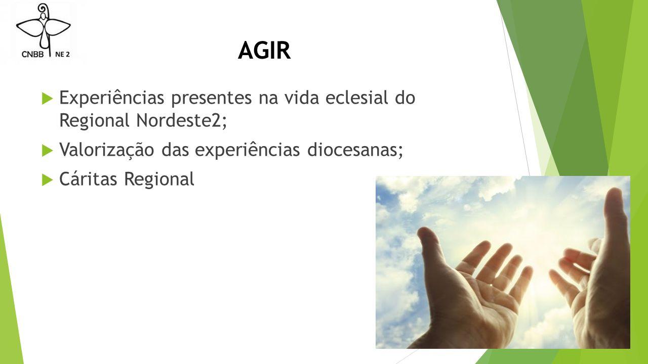 AGIR Experiências presentes na vida eclesial do Regional Nordeste2;