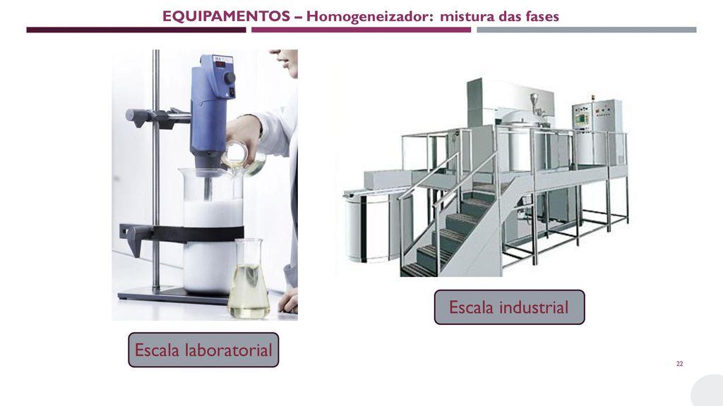 EQUIPAMENTOS – Homogeneizador: mistura das fases