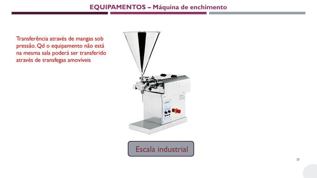 EQUIPAMENTOS – Máquina de enchimento