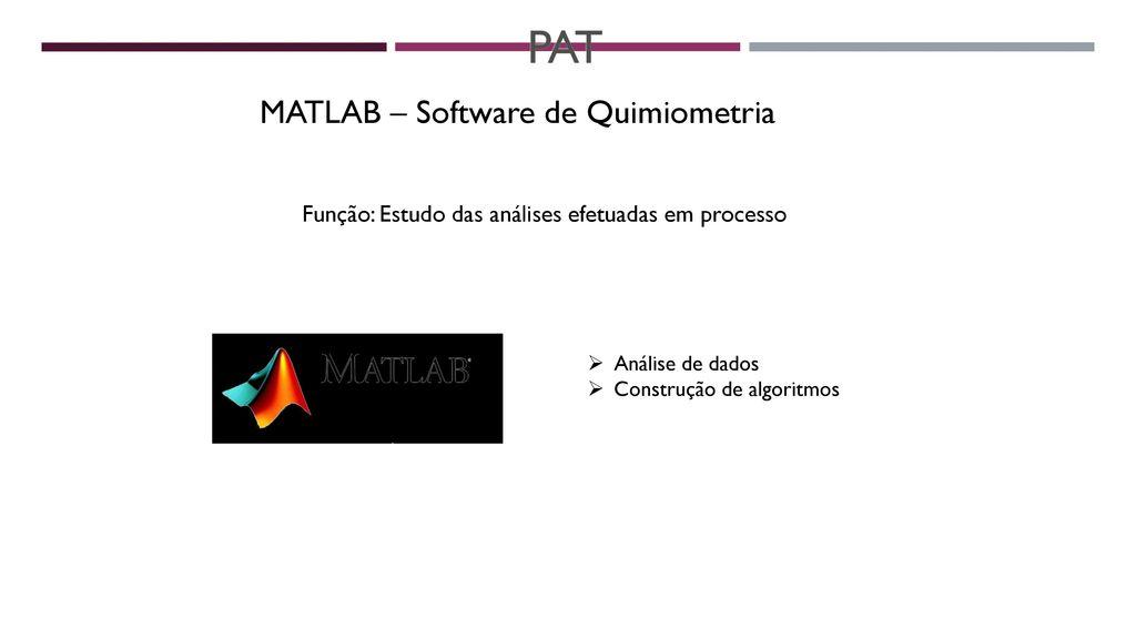PAT MATLAB – Software de Quimiometria