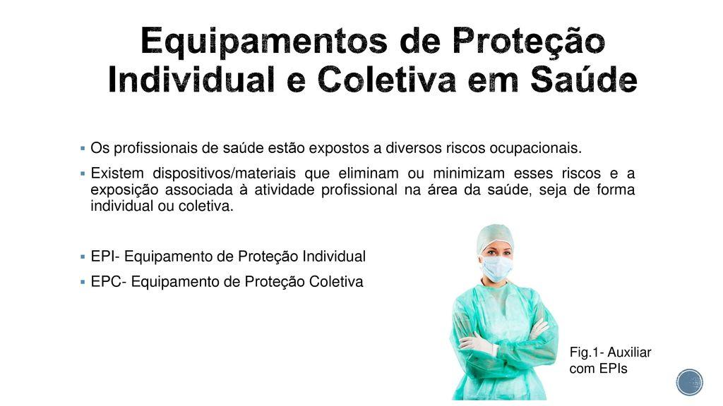 Equipamentos de proteção individual e coletiva em laboratorio