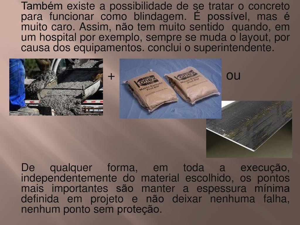 Trabalho De Materiais Construtivos Concreto Para Blindagem De