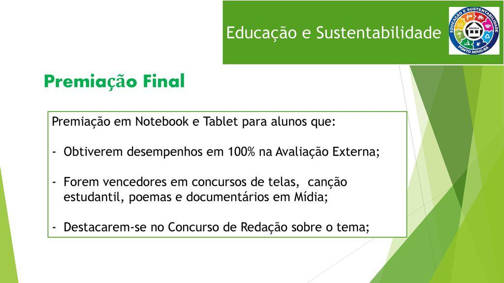 Excepcional Educação e Sustentabilidade - ppt carregar LO28