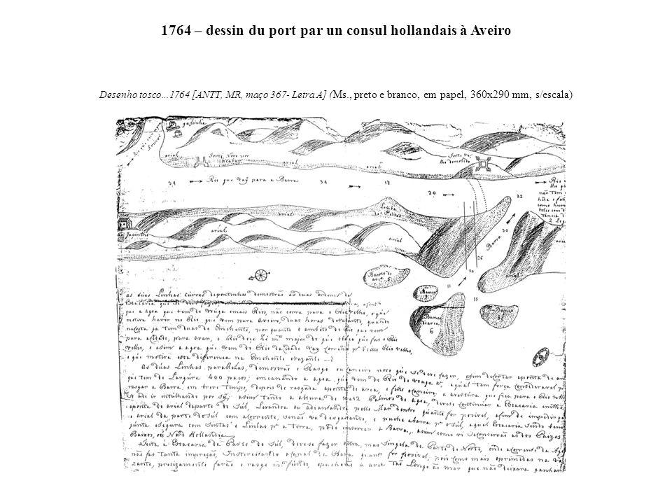 1764 – dessin du port par un consul hollandais à Aveiro