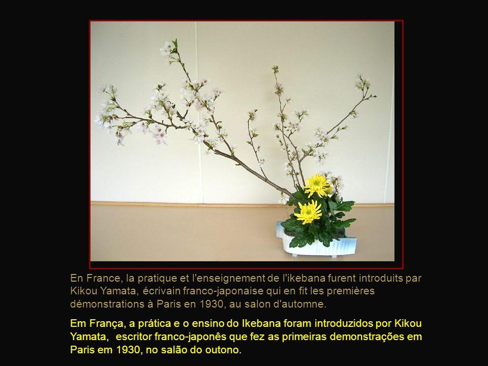 En France, la pratique et l enseignement de l ikebana furent introduits par Kikou Yamata, écrivain franco-japonaise qui en fit les premières démonstrations à Paris en 1930, au salon d automne.