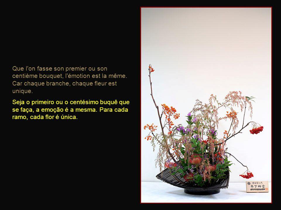 Que l on fasse son premier ou son centième bouquet, l émotion est la même. Car chaque branche, chaque fleur est unique.