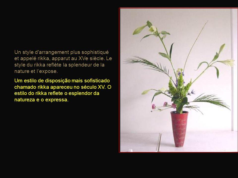 Un style d arrangement plus sophistiqué et appelé rikka, apparut au XVe siècle. Le style du rikka reflète la splendeur de la nature et l'expose.