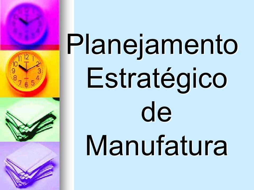 Planejamento Estratégico de Manufatura