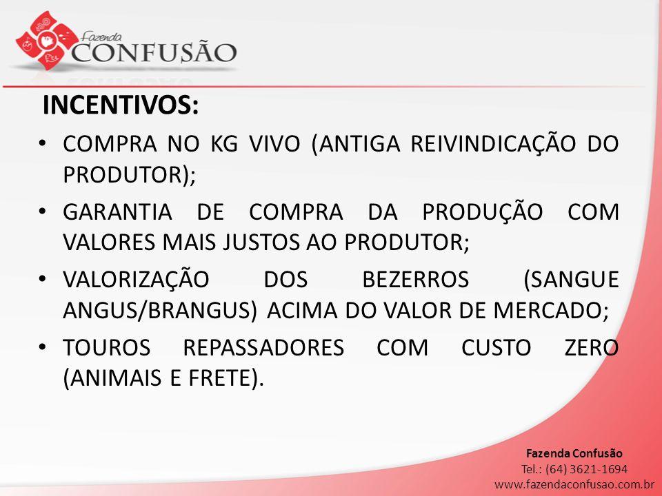 INCENTIVOS: COMPRA NO KG VIVO (ANTIGA REIVINDICAÇÃO DO PRODUTOR);