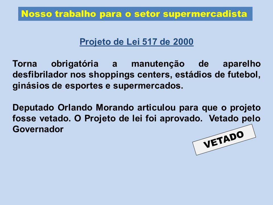 Nosso trabalho para o setor supermercadista
