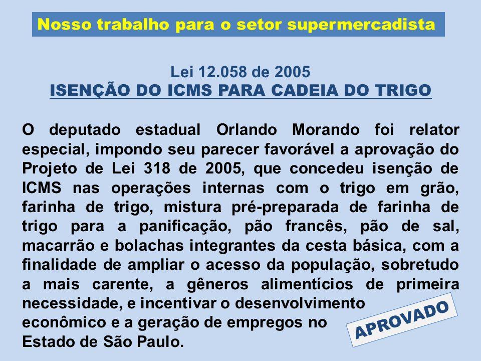 ISENÇÃO DO ICMS PARA CADEIA DO TRIGO