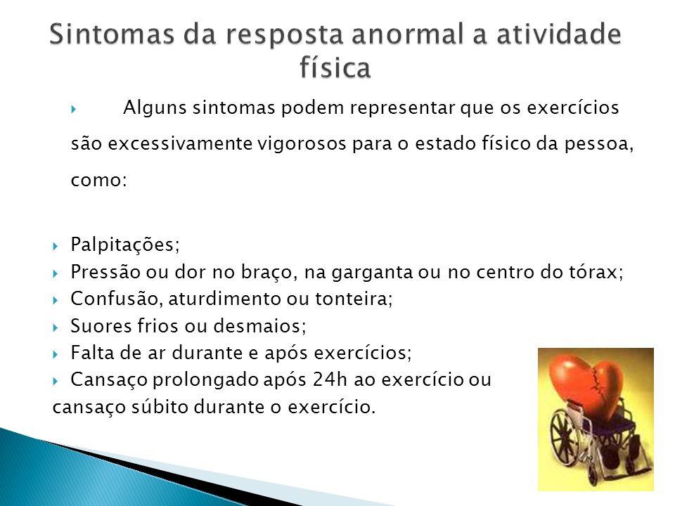 Sintomas da resposta anormal a atividade física