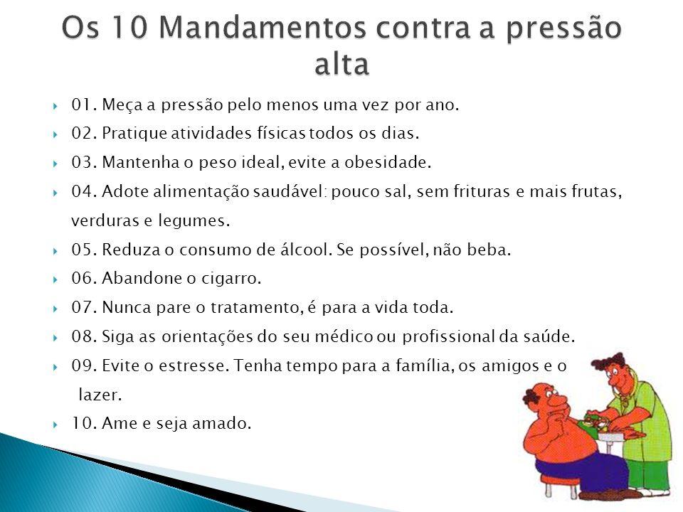 Os 10 Mandamentos contra a pressão alta