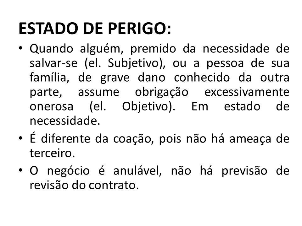 ESTADO DE PERIGO: