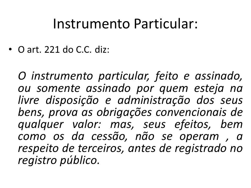 Instrumento Particular: