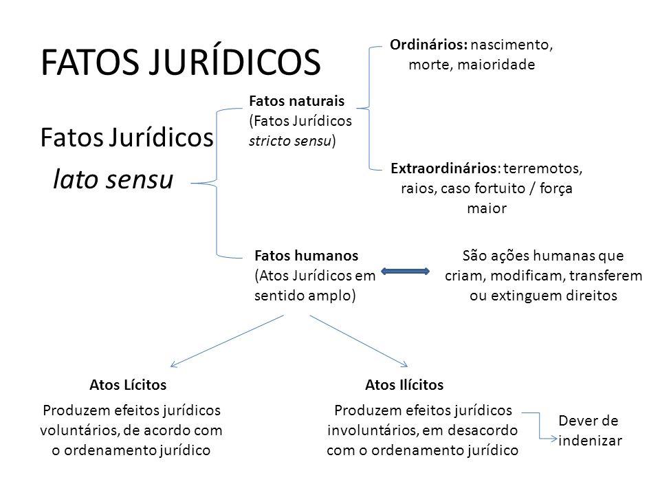 FATOS JURÍDICOS Fatos Jurídicos lato sensu