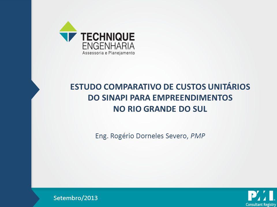 ESTUDO COMPARATIVO DE CUSTOS UNITÁRIOS DO SINAPI PARA EMPREENDIMENTOS