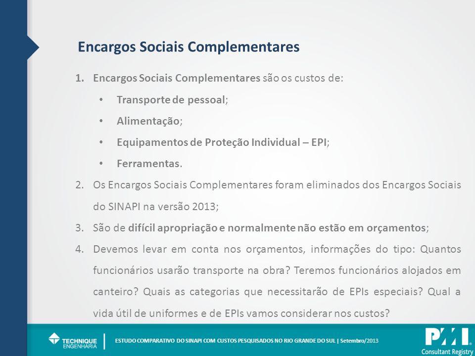 | Encargos Sociais Complementares