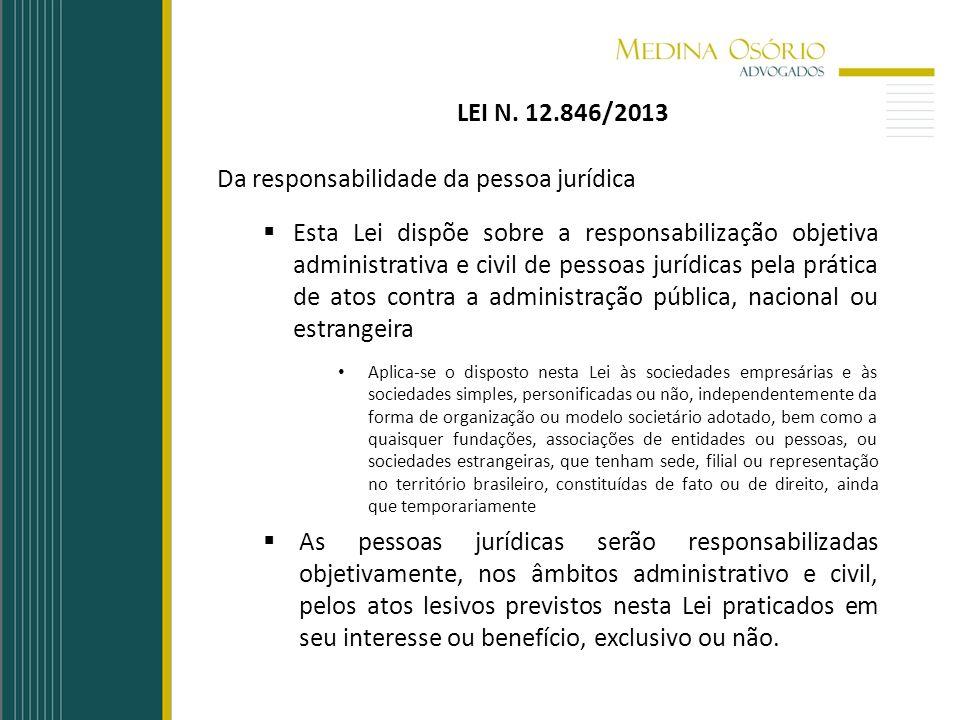 Da responsabilidade da pessoa jurídica