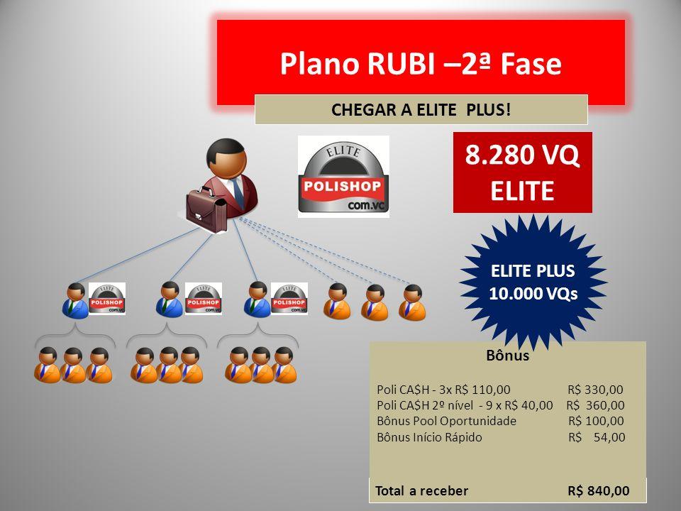 Plano RUBI –2ª Fase 8.280 VQ ELITE CHEGAR A ELITE PLUS!