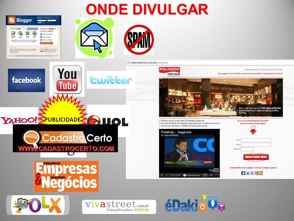 ONDE DIVULGAR PUBLICIDADE WWW.CADASTROCERTO.COM