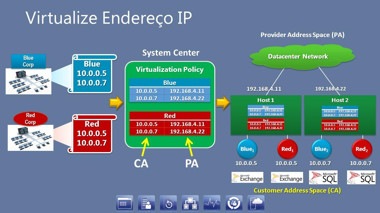 Virtualize Endereço IP