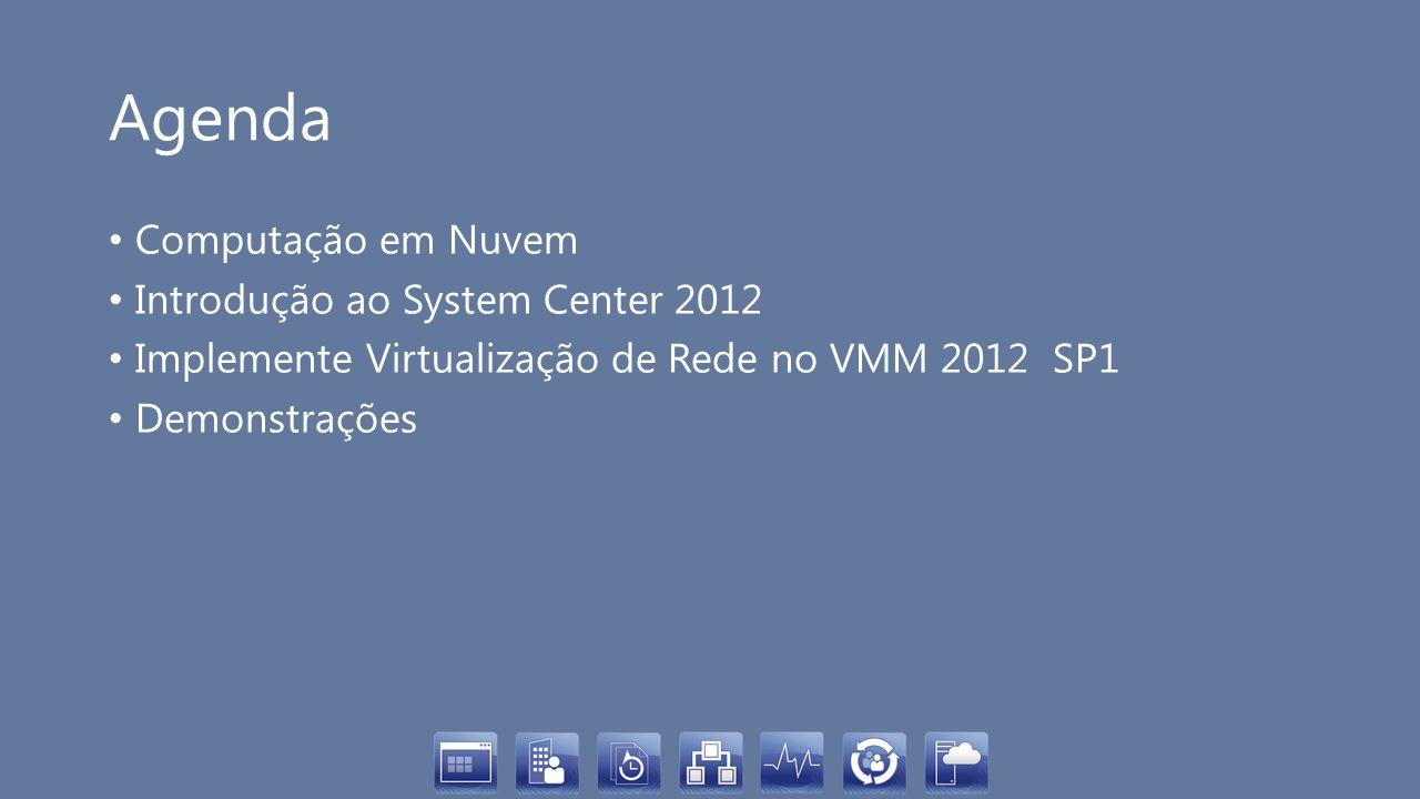 Agenda Computação em Nuvem Introdução ao System Center 2012