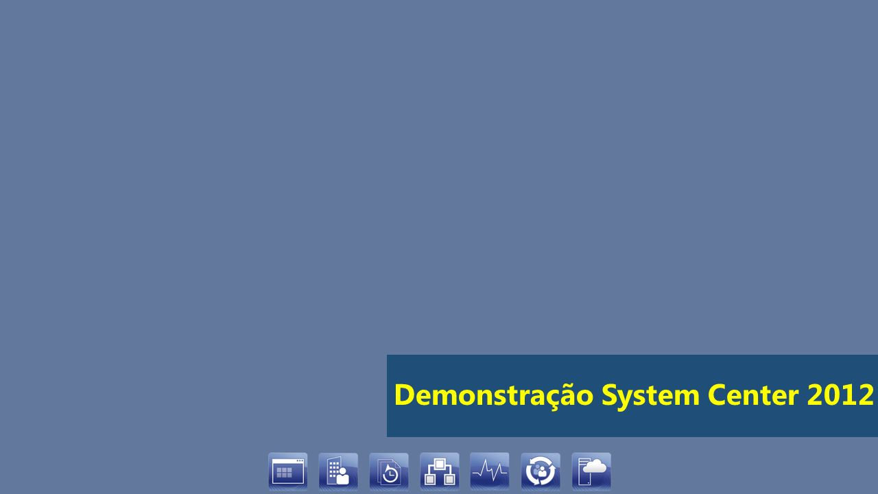 Demonstração System Center 2012