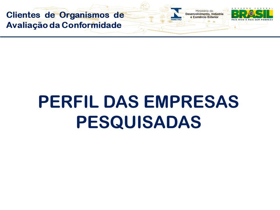 PERFIL DAS EMPRESAS PESQUISADAS
