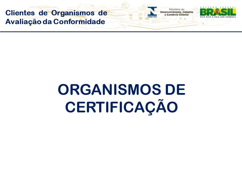 ORGANISMOS DE CERTIFICAÇÃO