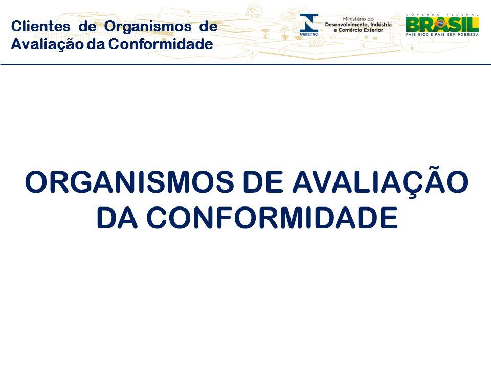 ORGANISMOS DE AVALIAÇÃO DA CONFORMIDADE