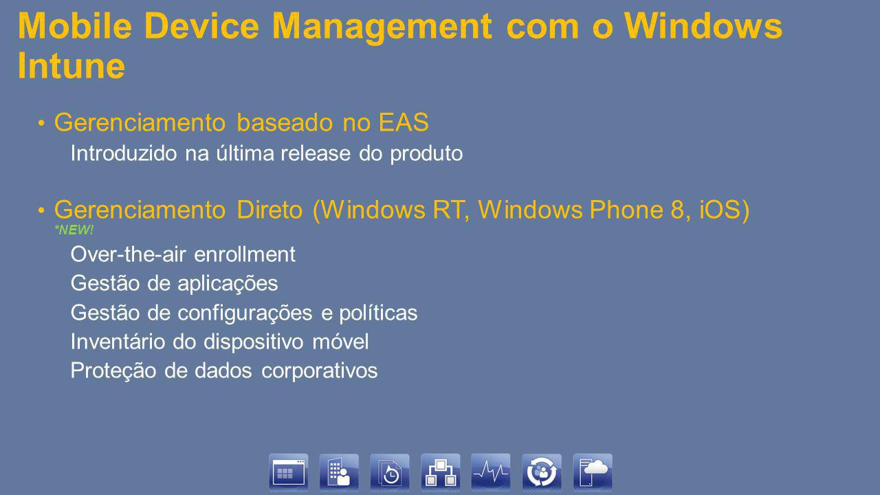 Mobile Device Management com o Windows Intune