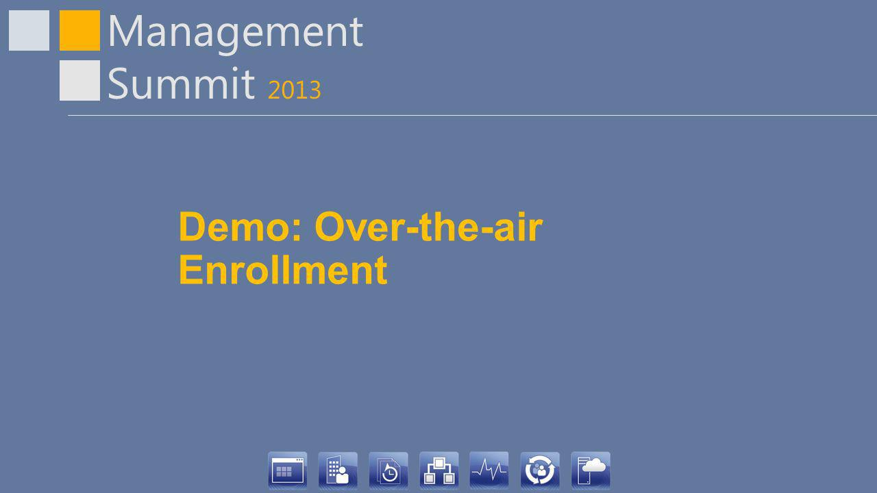 Demo: Over-the-air Enrollment
