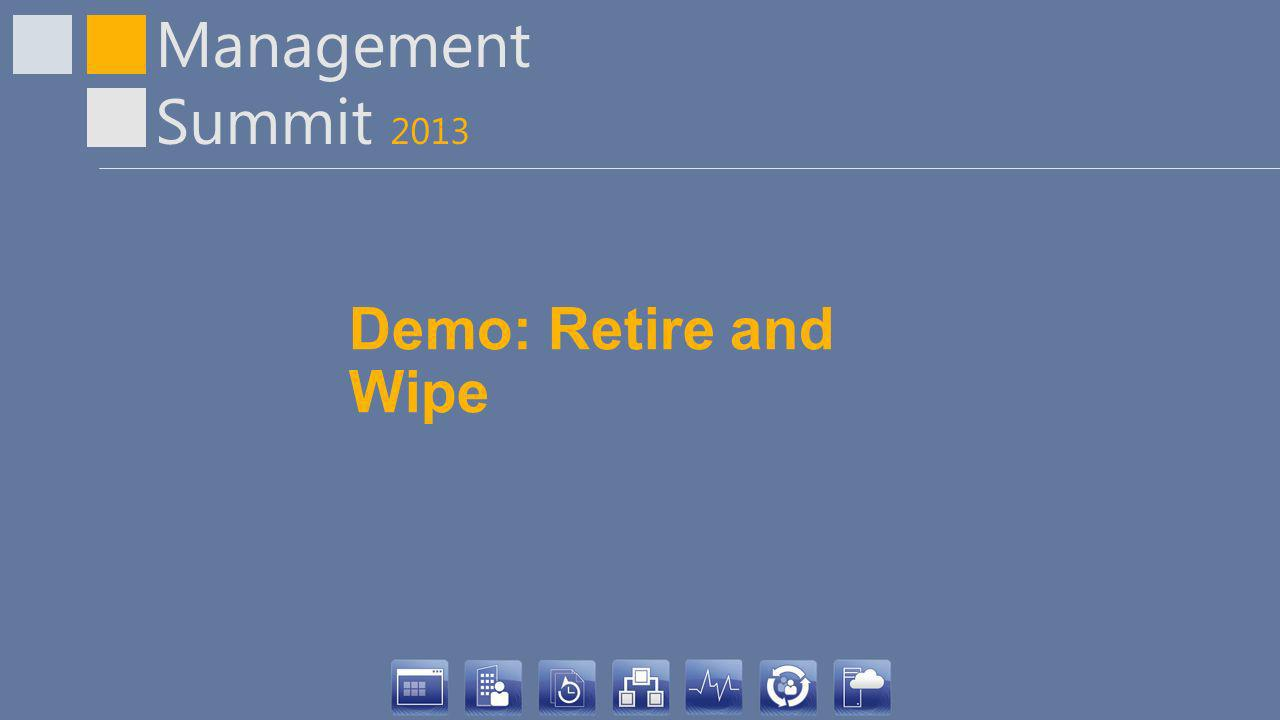 Demo: Retire and Wipe