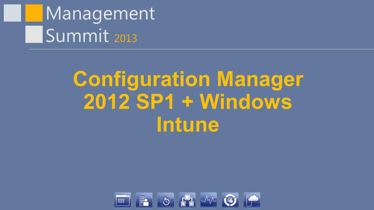 Configuration Manager 2012 SP1 + Windows Intune