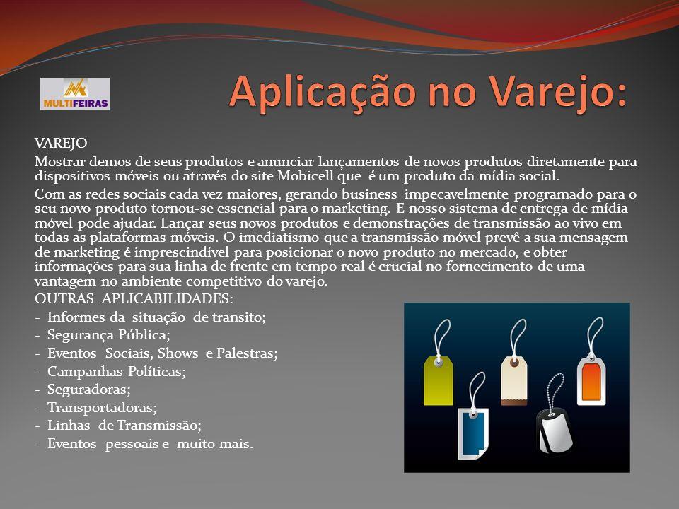 Aplicação no Varejo: VAREJO