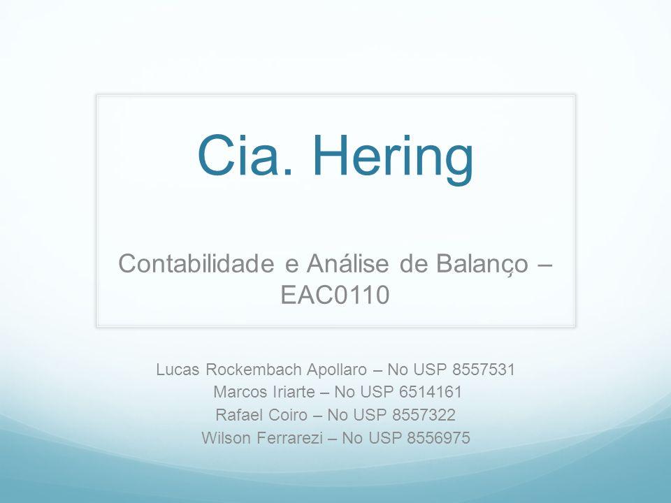 Cia. Hering Contabilidade e Análise de Balanço – EAC0110