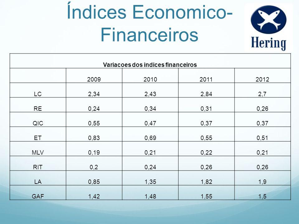 Índices Economico-Financeiros