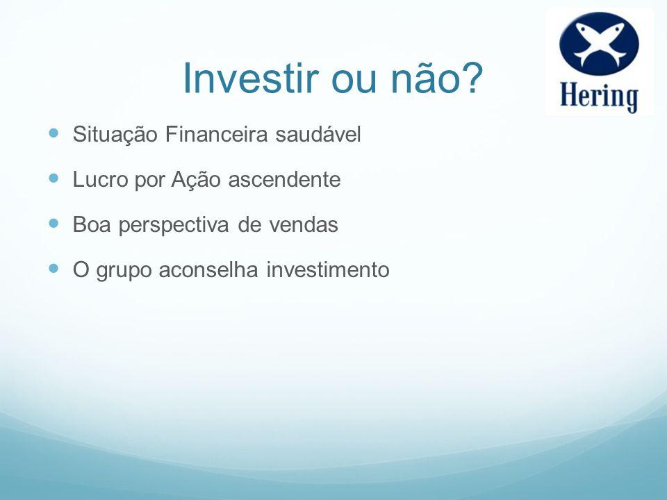 Investir ou não Situação Financeira saudável