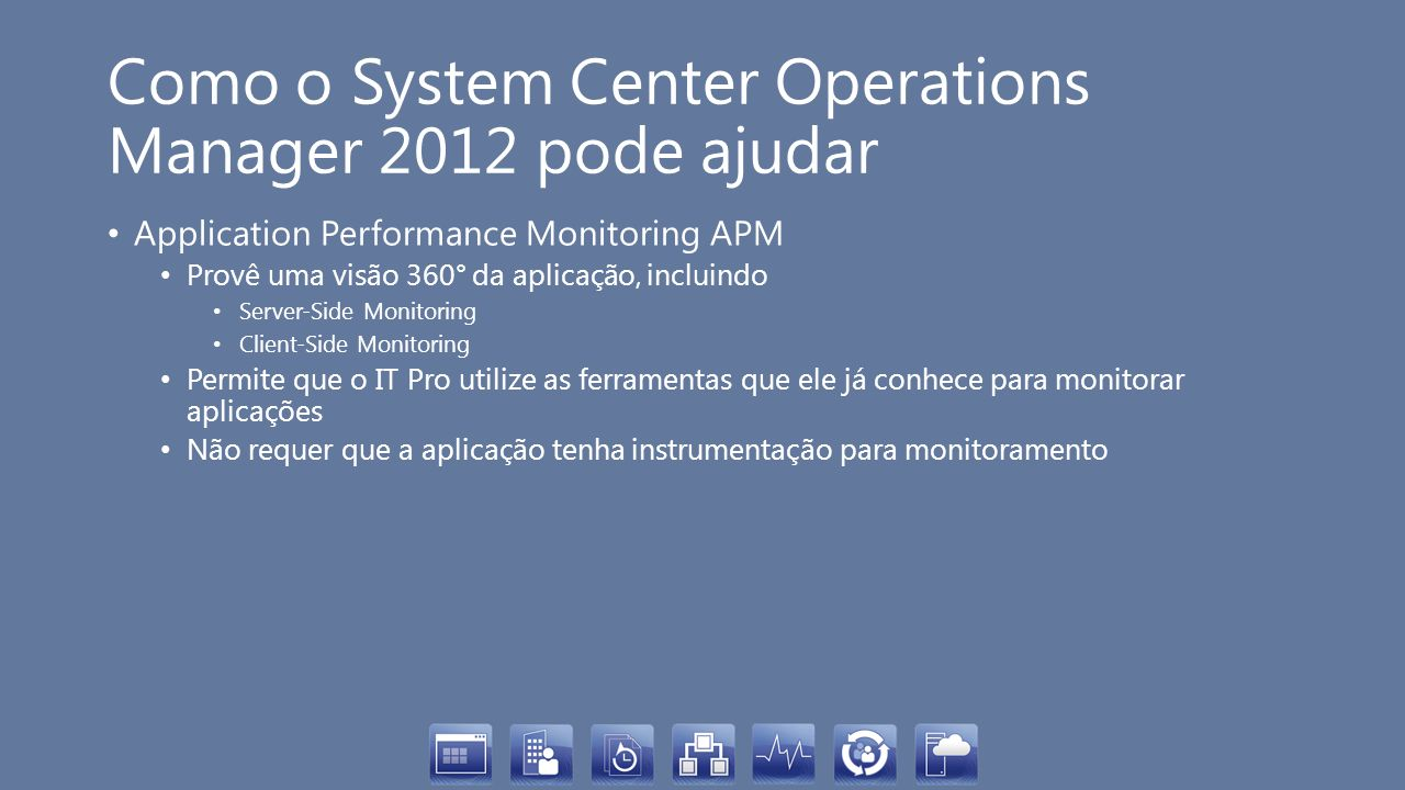 Como o System Center Operations Manager 2012 pode ajudar