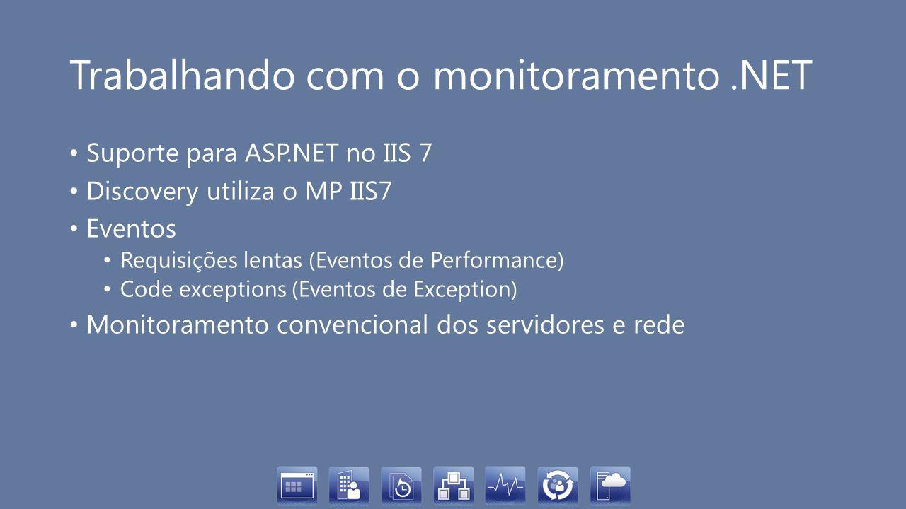 Trabalhando com o monitoramento .NET