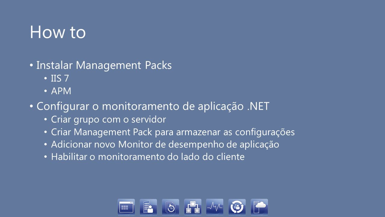 How to Instalar Management Packs