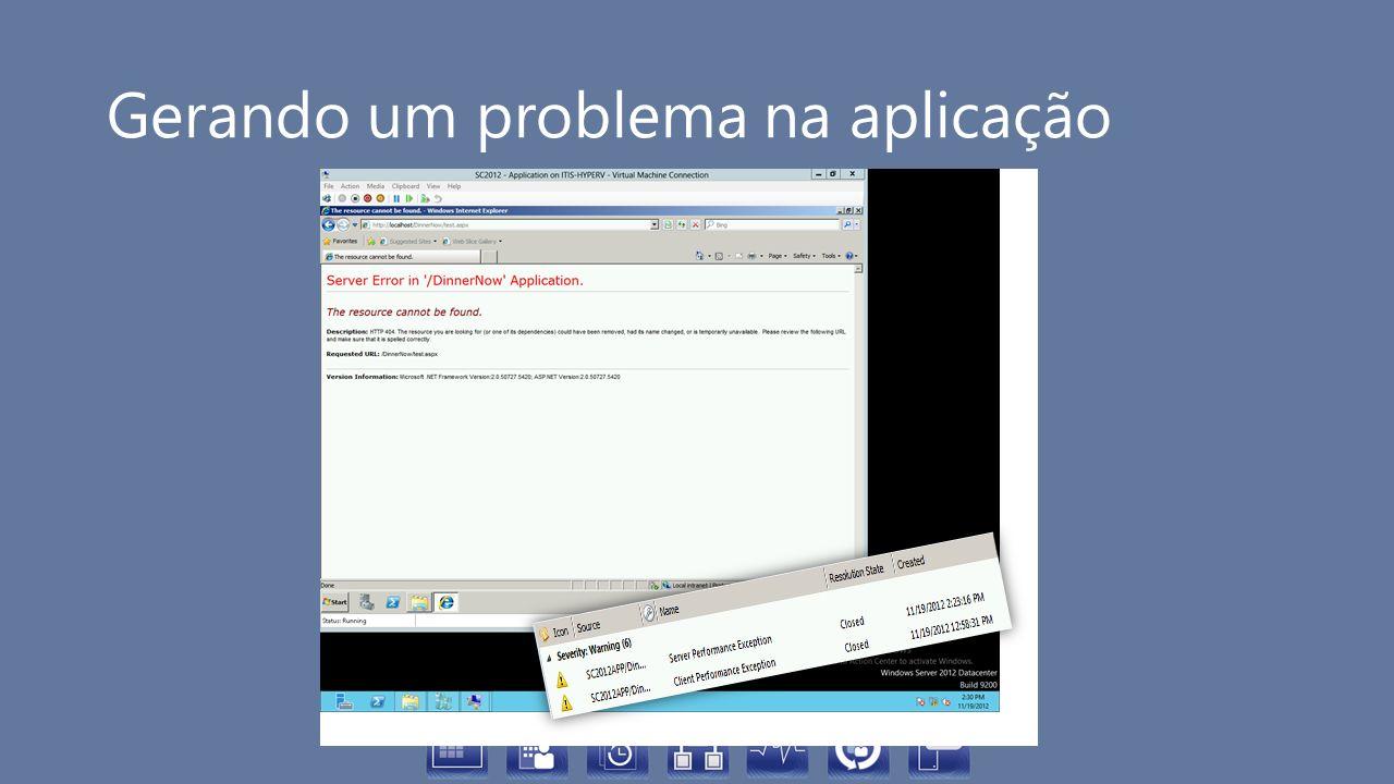 Gerando um problema na aplicação