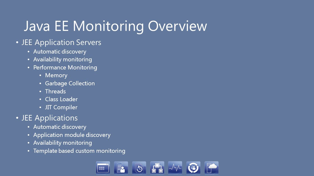 Java EE Monitoring Overview