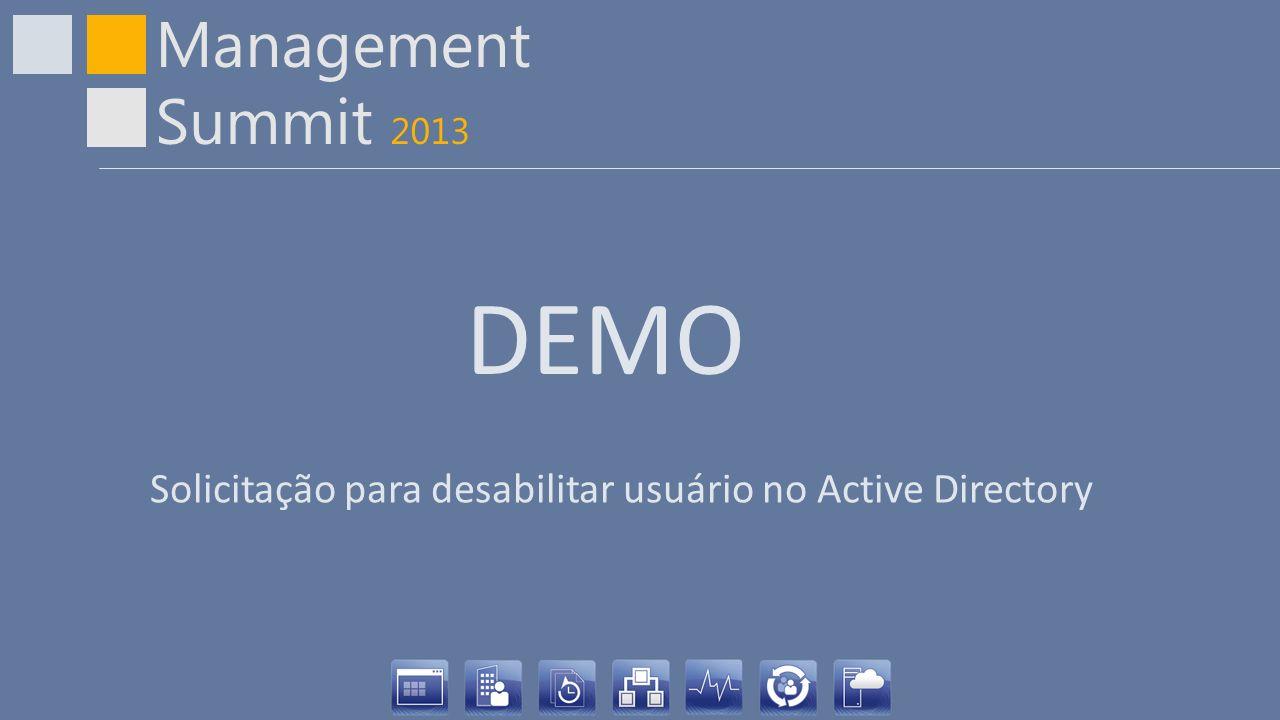 DEMO Solicitação para desabilitar usuário no Active Directory
