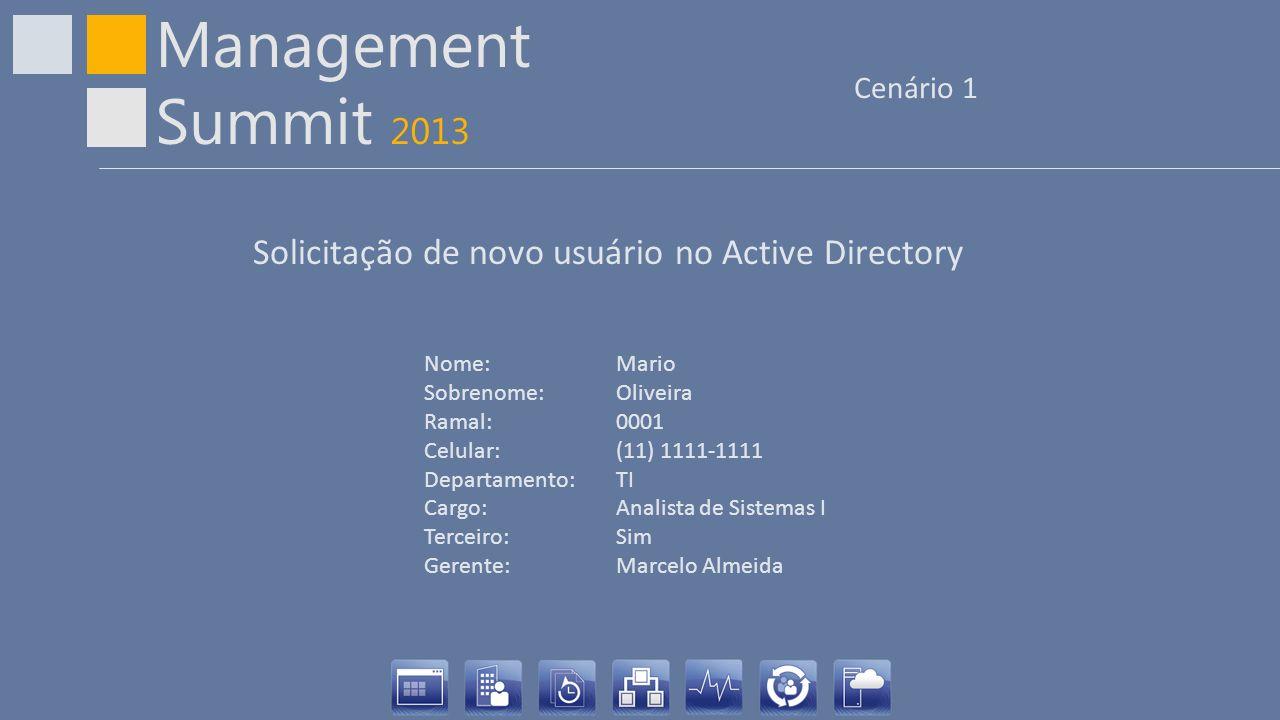 Solicitação de novo usuário no Active Directory