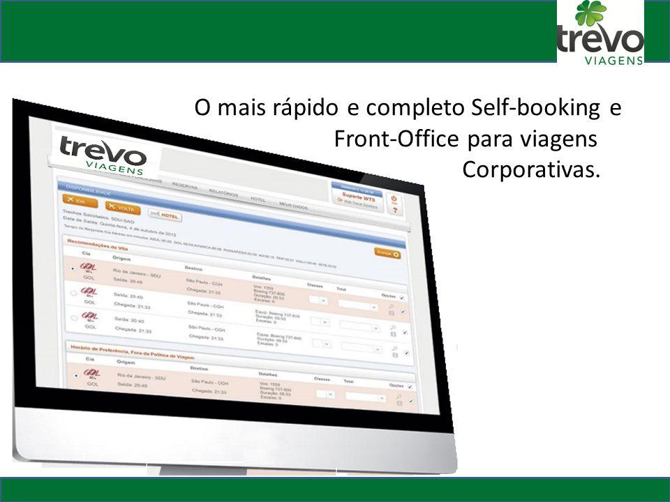 O mais rápido e completo Self-booking e. Front-Office para viagens