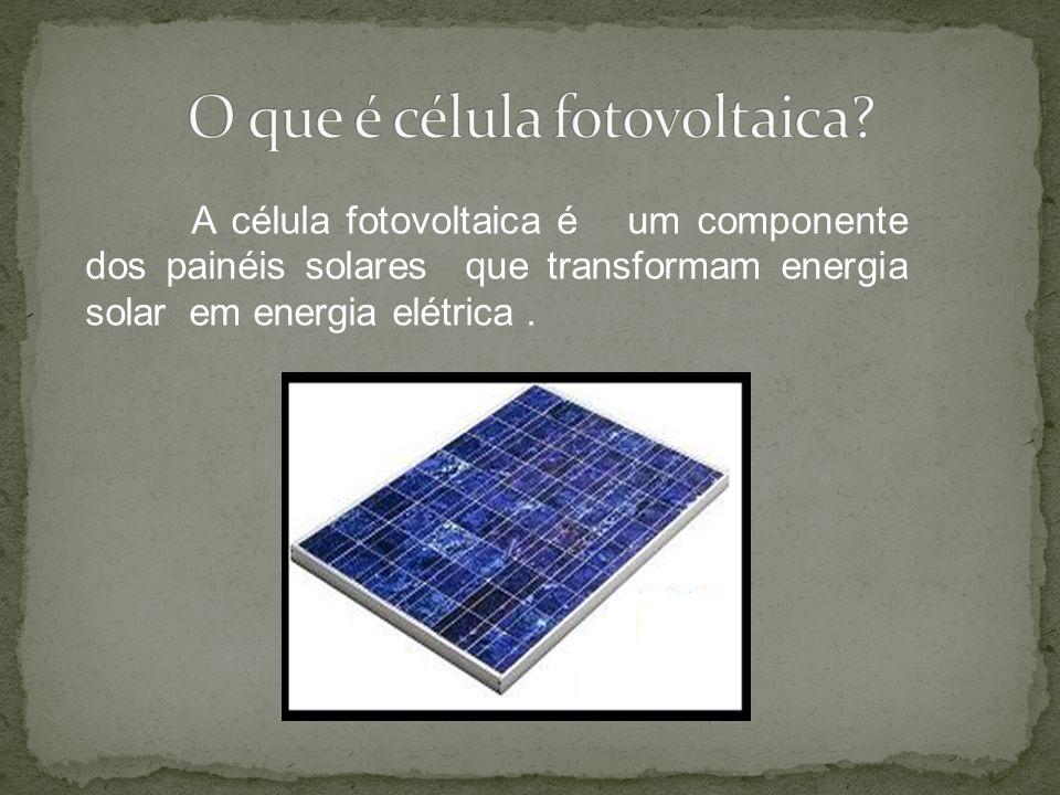 O que é célula fotovoltaica