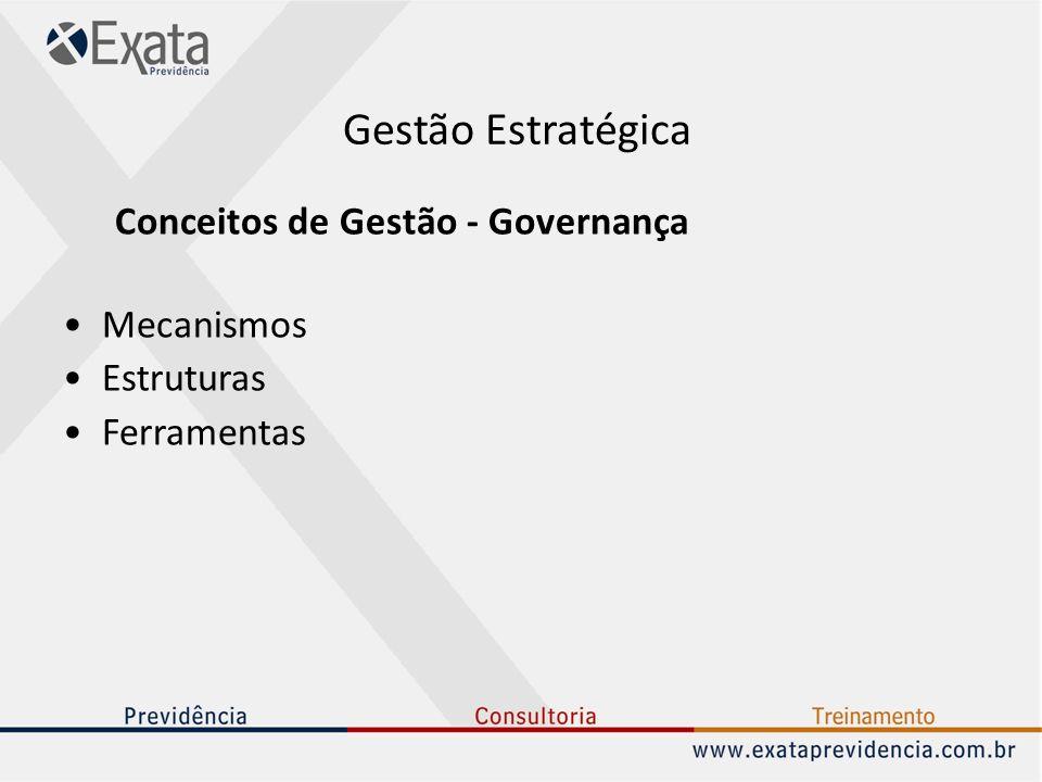 Gestão Estratégica Conceitos de Gestão - Governança Mecanismos
